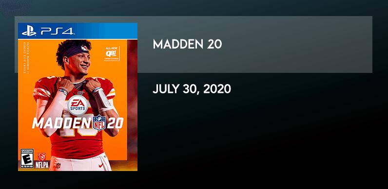 MADDEN 20 7/30