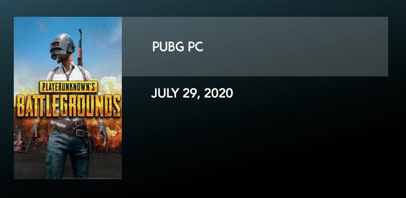 PUBG PC 7/29